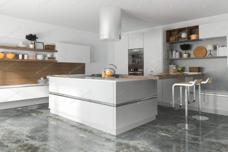 Cocina-moderna-blanca-lacada